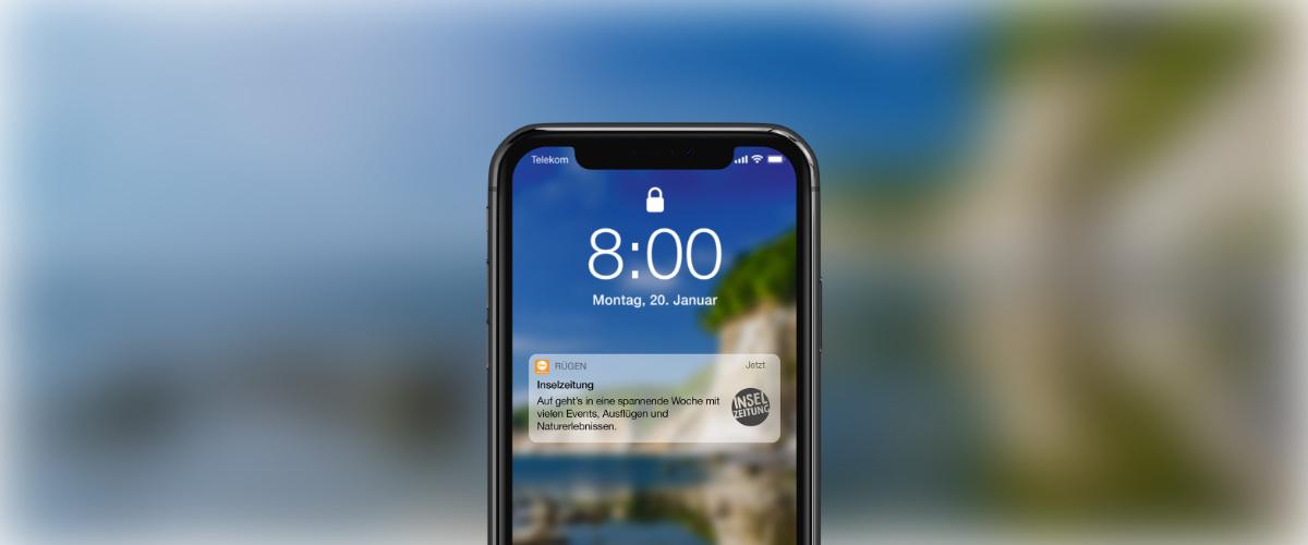 Jetzt anmelden – Tagestipps aufs Handy