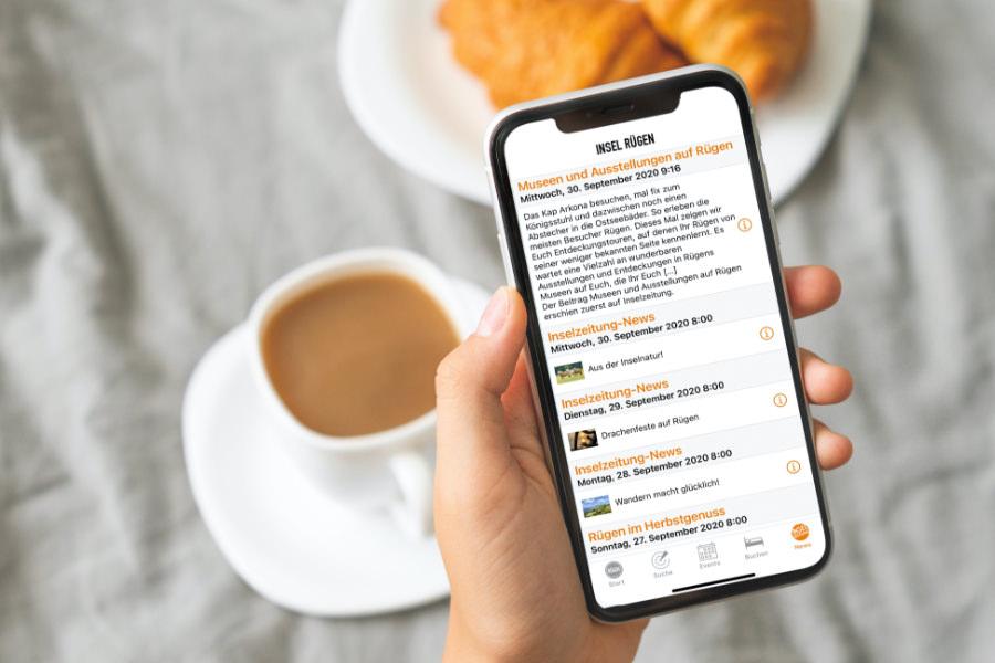 Inselzeitung taeglich um acht Meldungen via ruegen app erhalten 1 | Inselzeitung Rügen