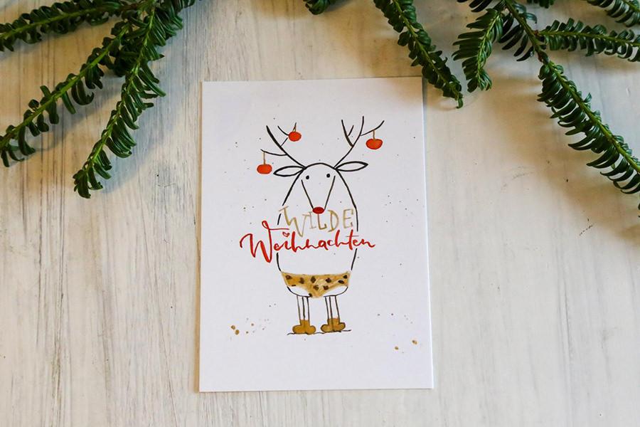 Wilde Weihnachten Poskarte magentapix inselzeitung | Inselzeitung Rügen