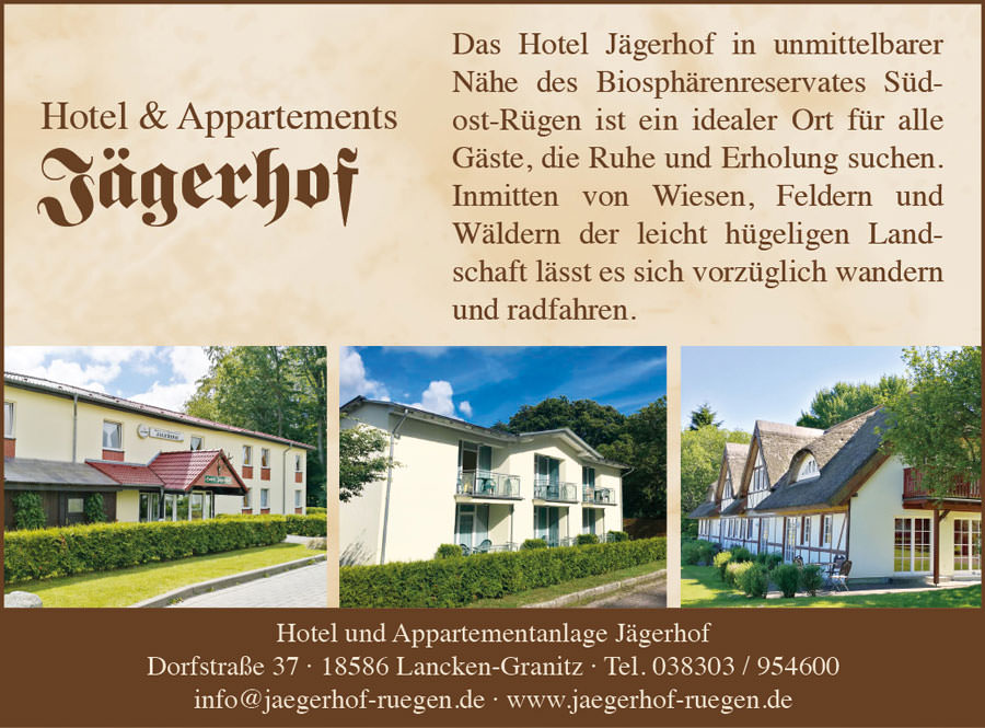 jaegerhof hotel appartements lancken granitz ruegen   Inselzeitung Rügen
